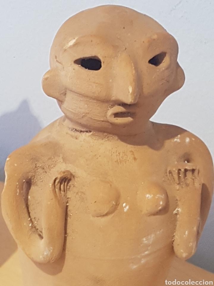 Arte: Figuras de cerámica Ibiza Cultura Púnica hombre y mujer - Foto 2 - 151614016