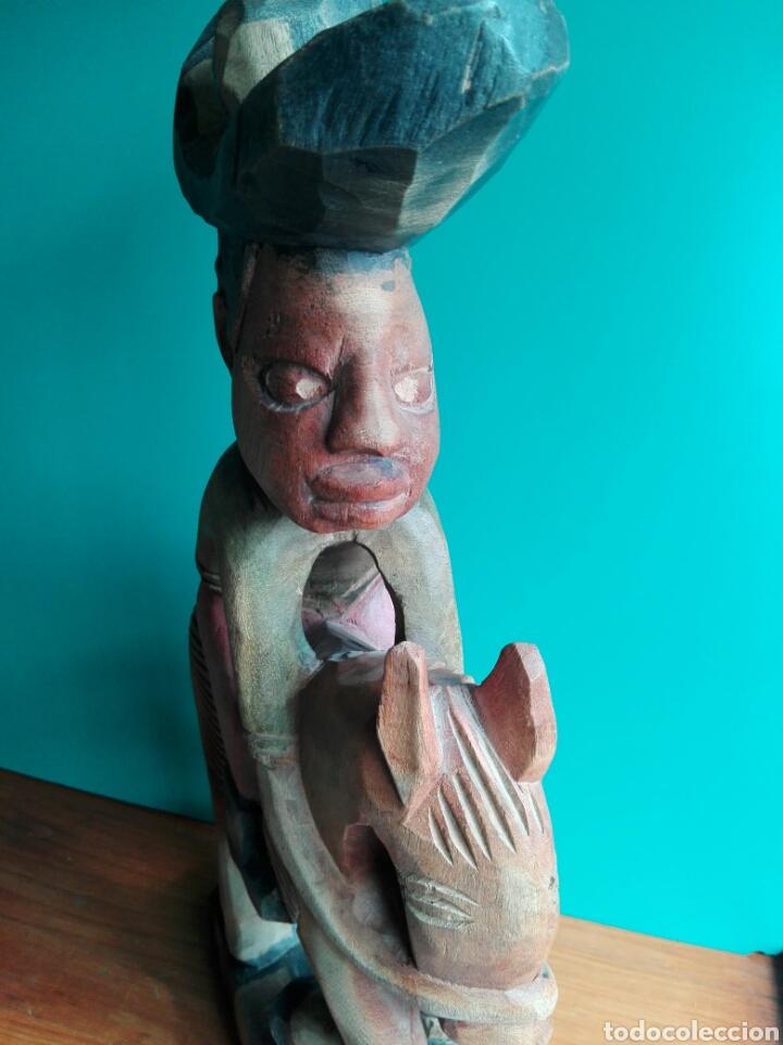 Arte: Enorme talla figura policromada hombre Mexicano caballo Folclore decorar restaurantes 45 cm MEXICO - Foto 3 - 151503394