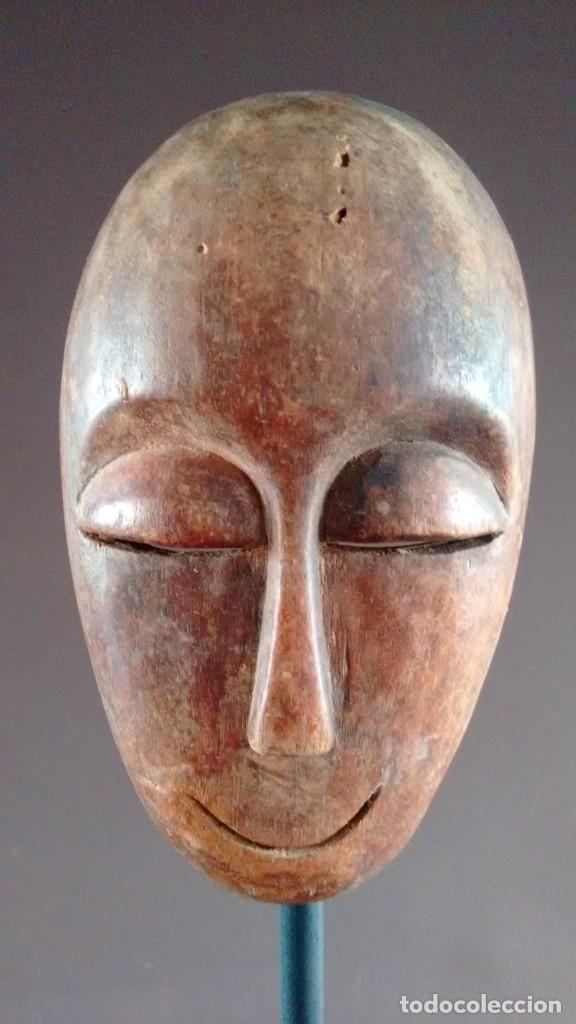 Arte: Máscara africana tribu Lega (Congo) - Foto 3 - 151611966