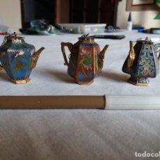 Arte: TRES PRECIOSAS MINIATURAS CHINAS DE ESMALTE .. Lote 152053626