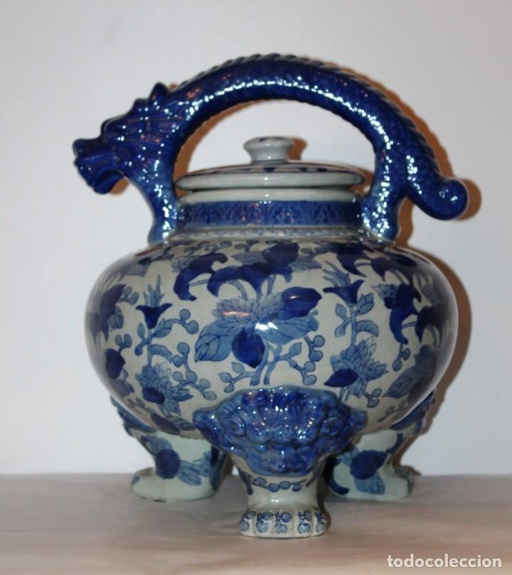 INCENSARIO CHINO. AÑOS 60´S - PORCELANA - CHINA - SELLO QIANLONG (Arte - Étnico - Asia)