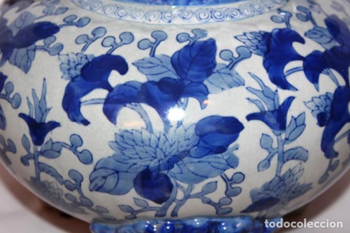 Arte: Incensario chino. Años 60´s - Porcelana - China - Sello Qianlong - Foto 6 - 152378346