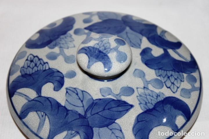 Arte: Incensario chino. Años 60´s - Porcelana - China - Sello Qianlong - Foto 8 - 152378346