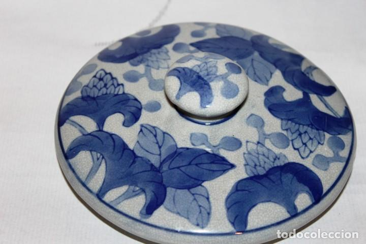 Arte: Incensario chino. Años 60´s - Porcelana - China - Sello Qianlong - Foto 15 - 152378346
