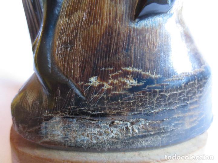Arte: CUERNO DE BUFALO TAILANDES TALLADO LA FIGURA DE UN CABALLO - Foto 10 - 152751162