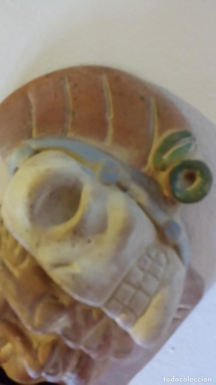 Arte: Máscara azteca - Foto 3 - 152872666