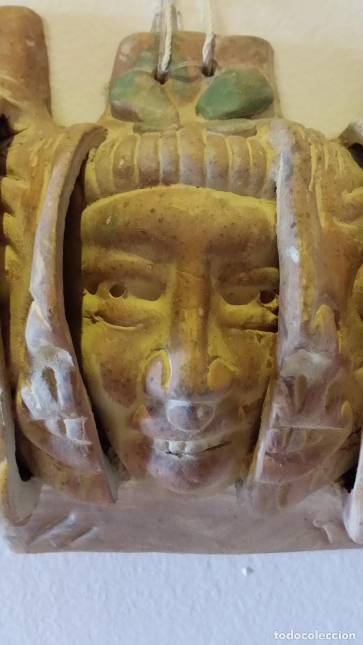 Arte: Máscara azteca - Foto 5 - 152872666