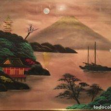 Arte: ANTIGUA PINTURA JAPONESA SOBRE SEDA. Lote 153164566