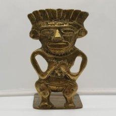 Arte: ESCULTURA DE LA CULTURA INCA, IMAGEN DEL DIOS WIRACOCHA MITOLOGIA PRE-INCA EN BRONCE CINCELADO .. Lote 153729962
