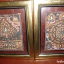 Arte: INDIA, MITOLOGIA SOBRE SEDA PINTURA ARTISTICA, 28X23,CON MARCO 43X38 MADERA DORADA,FONDO CRISTAL.. Lote 153962226
