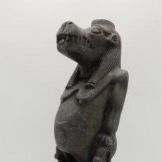 Arte: RARA ESCULTURA ANTIGUA EGIPCIA DEL DIOS ANUBIS TALLADA A MANO .. Lote 154016242