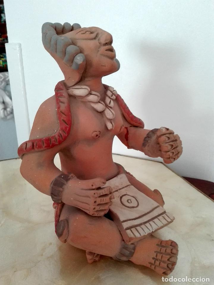 Arte: FIGURA AZTECA POLICROMADA - Foto 7 - 154175898