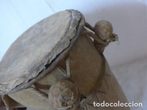 Arte: Antiguo tambor de tribu de africa, original, africano. - Foto 5 - 162604029