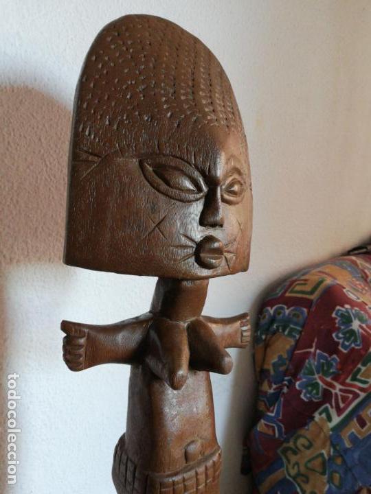 Arte: Antigua figura máscara africana 63 x 17 cmtrs. - Foto 3 - 155487794