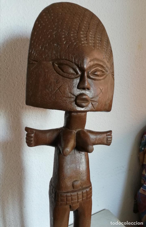 Arte: Antigua figura máscara africana 63 x 17 cmtrs. - Foto 8 - 155487794