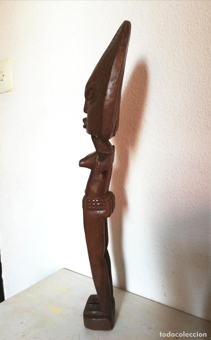 Arte: Antigua figura máscara africana 63 x 17 cmtrs. - Foto 9 - 155487794