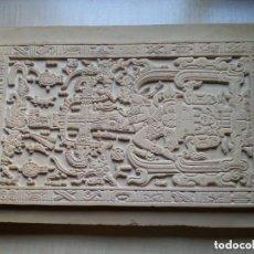 Arte: LOSA DE LA TUMBA DEL ASTRONAUTA DE PALENQUE - ÚNICA ORIGINAL - HECHA A MANO EN PALENQUE - MÉXICO. Lote 155713114