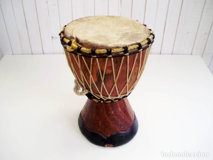Arte: Pequeño Tam Tam Africano madera tallada - H.19cm - Foto 2 - 155951610