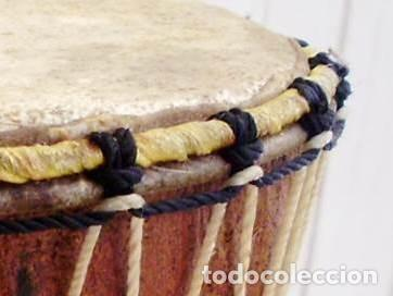 Arte: Pequeño Tam Tam Africano madera tallada - H.19cm - Foto 4 - 155951610