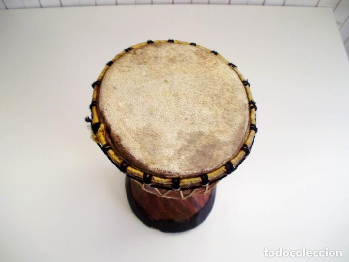 Arte: Pequeño Tam Tam Africano madera tallada - H.19cm - Foto 7 - 155951610