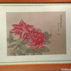 Arte: MAGNÍFICA ACUARELA CHINA SOBRE SEDA CON FIRMA DE AUTENTICIDAD. Lote 173625105