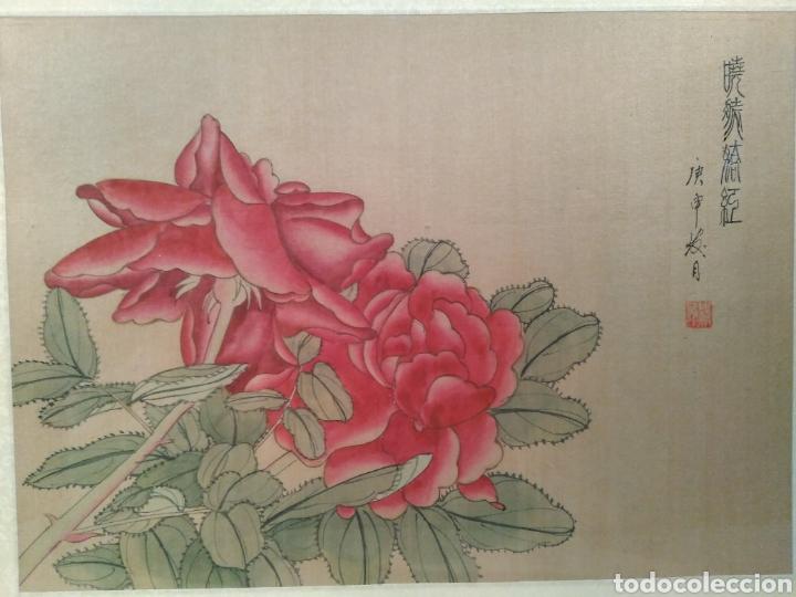 Arte: MAGNÍFICA ACUARELA CHINA SOBRE SEDA CON FIRMA DE AUTENTICIDAD - Foto 2 - 173625105