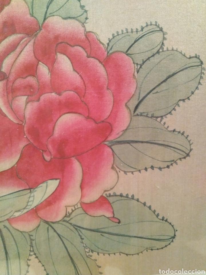 Arte: MAGNÍFICA ACUARELA CHINA SOBRE SEDA CON FIRMA DE AUTENTICIDAD - Foto 4 - 173625105
