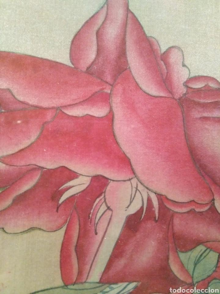 Arte: MAGNÍFICA ACUARELA CHINA SOBRE SEDA CON FIRMA DE AUTENTICIDAD - Foto 5 - 173625105