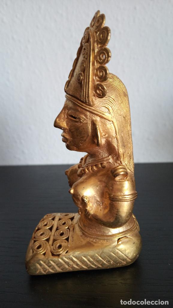 Arte: TUMBAGA , FIGURA DE CHAMAN DE LA CULTURA QUIMBAYA CON 84.60 GRAMOS DE PESO - Foto 3 - 156804402
