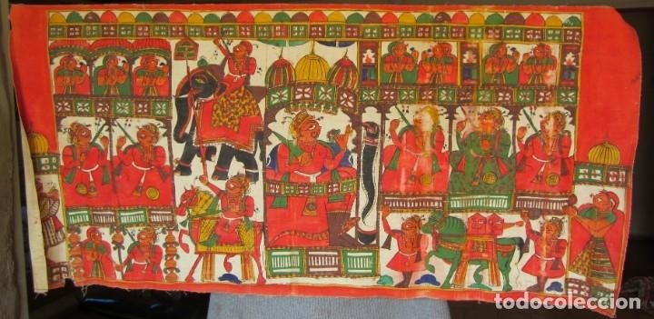TELA PINTADA 65 CM X 139,5CM (Arte - Étnico - Asia)