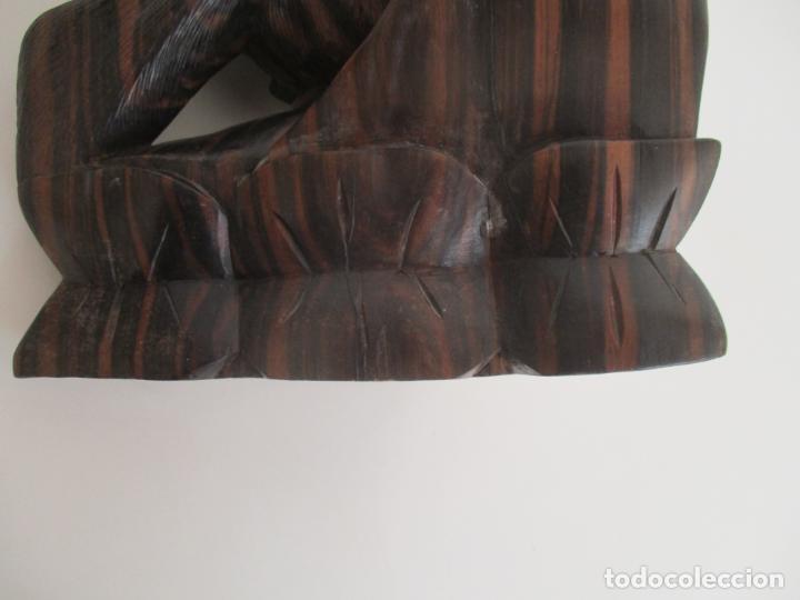 Arte: Impresionante Escultura Africana - Maternidad - Talla en Madera de Jacarandá - África - 58 cm Altura - Foto 2 - 158645206