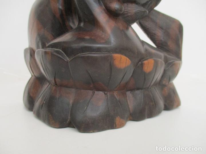 Arte: Impresionante Escultura Africana - Maternidad - Talla en Madera de Jacarandá - África - 58 cm Altura - Foto 3 - 158645206