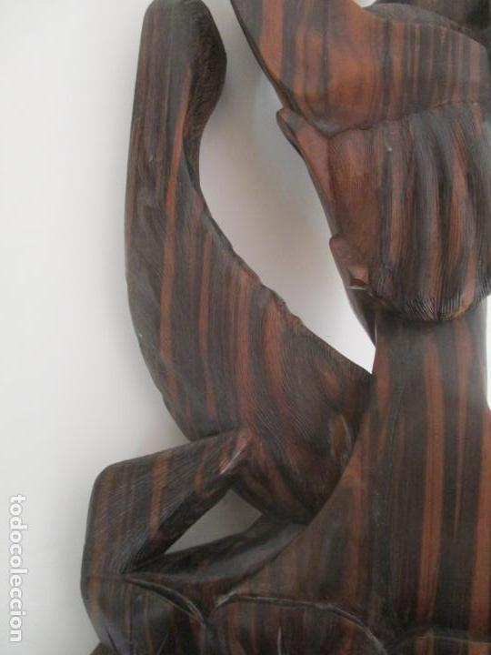 Arte: Impresionante Escultura Africana - Maternidad - Talla en Madera de Jacarandá - África - 58 cm Altura - Foto 11 - 158645206