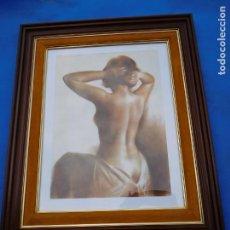 Arte: CUADROS DOS DESNUDOS, MARCOS BUENOS DE MADERA, DE 69 X 57CM, CON FIRMA DE AUTOR.. Lote 158718750
