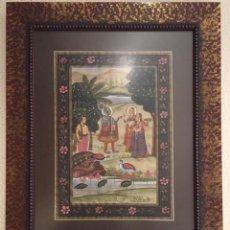 Arte: CUADRO SEDA INDIA. Lote 159001048