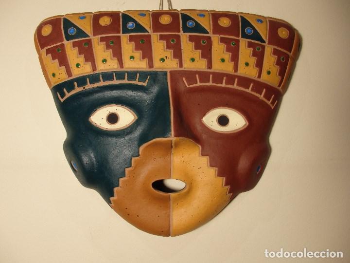MÁSCARA CULTURA CHANCAY (PERÚ) DE CERÁMICA. (Arte - Étnico - América)