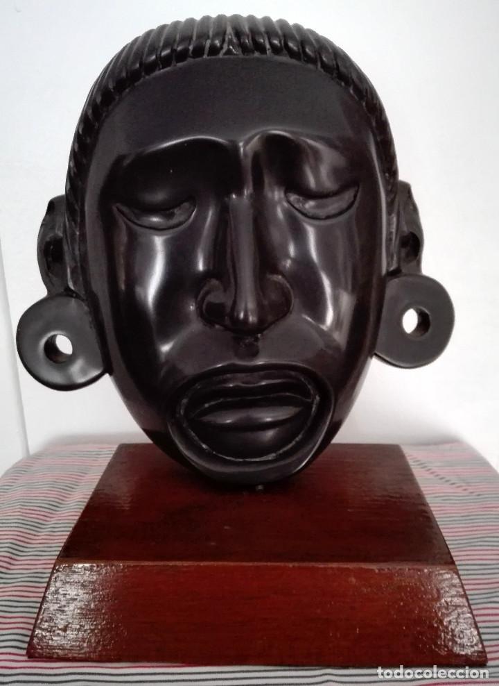 MÁSCARA AZTECA A DOS CARAS CON SOPORTE (Arte - Étnico - América)