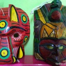 Arte: LOTE 2 MASCARAS DE GUATEMALA. Lote 160274114