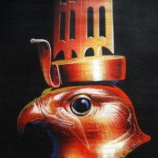 Arte: FASCINANTE PAPIRO HORUS DEL ARTISTA EGIPCIO MOSEF LABIB CON CERTIFICADO DE AUTENTICIDAD. 61,5X41,5CM. Lote 160334794