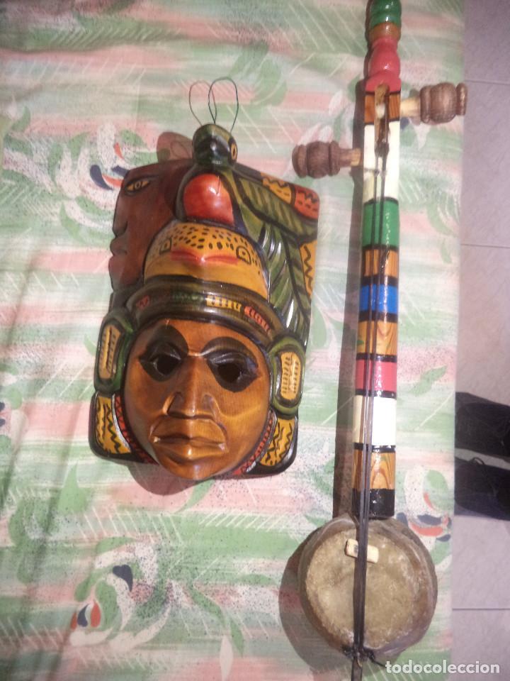 Arte: Arte etnico Mascara y objeto musical Sudamericano - Foto 2 - 160417374