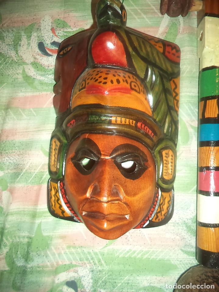 Arte: Arte etnico Mascara y objeto musical Sudamericano - Foto 6 - 160417374