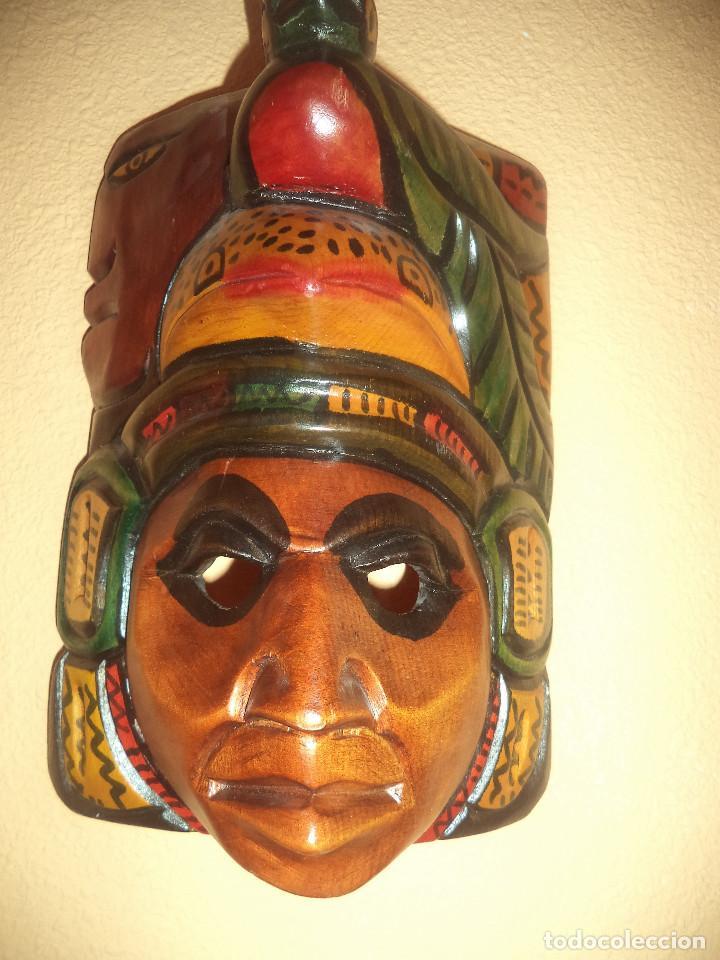 Arte: Arte etnico Mascara y objeto musical Sudamericano - Foto 7 - 160417374