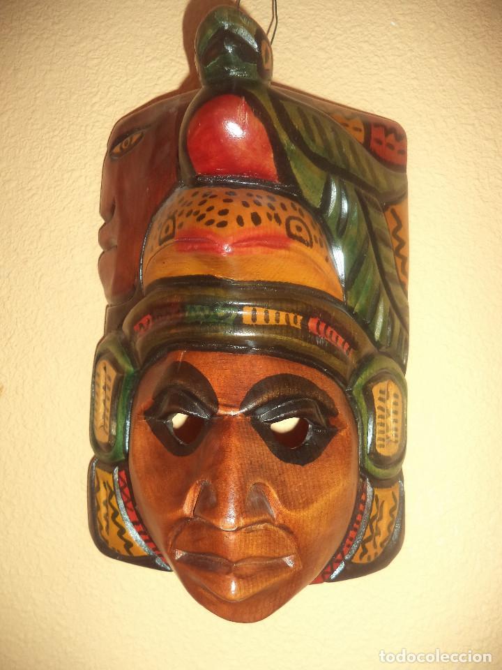 Arte: Arte etnico Mascara y objeto musical Sudamericano - Foto 10 - 160417374