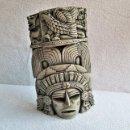 Arte: ANTIGUA FIGURA DE COLGAR AZTECA MEXICO TOTEN EN PIEDRA HORMIGON - EXCELENTE PIEZA DE COLECCIÓN. Lote 160624290