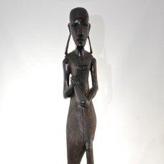Arte: ESCULTURA AFRICANA DE EBANO. Lote 160749702