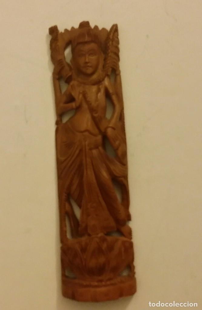 HERMOSA TALLA DE LA DIOSA SHIVA EN MADERA DE SÁNDALO. INDIA (Arte - Étnico - Asia)
