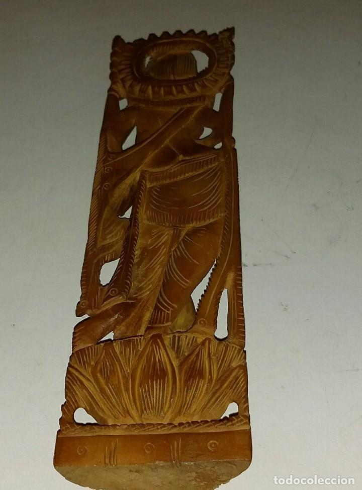 Arte: HERMOSA TALLA DE LA DIOSA SHIVA EN MADERA DE SÁNDALO. INDIA - Foto 4 - 160843418