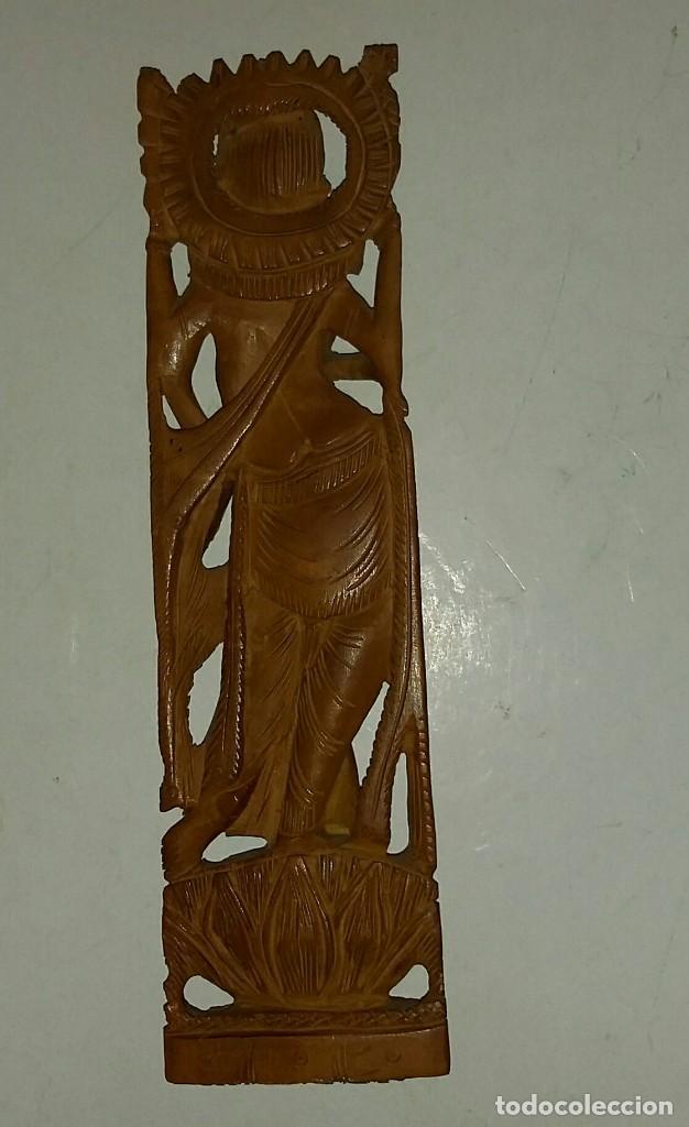 Arte: HERMOSA TALLA DE LA DIOSA SHIVA EN MADERA DE SÁNDALO. INDIA - Foto 5 - 160843418