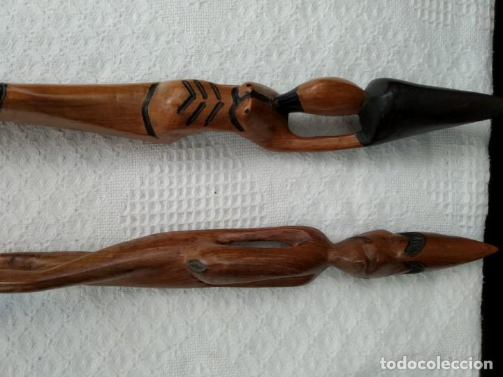 Arte: 2 Figuras de arte africano 52 cm , de madera. - Foto 5 - 161781390