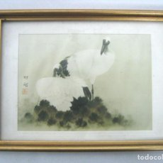 Arte: ACUARELA JAPONESA XIX- REPRODUCION EXCLUSIVA PARA BRETT NEW YORK. Lote 162611266